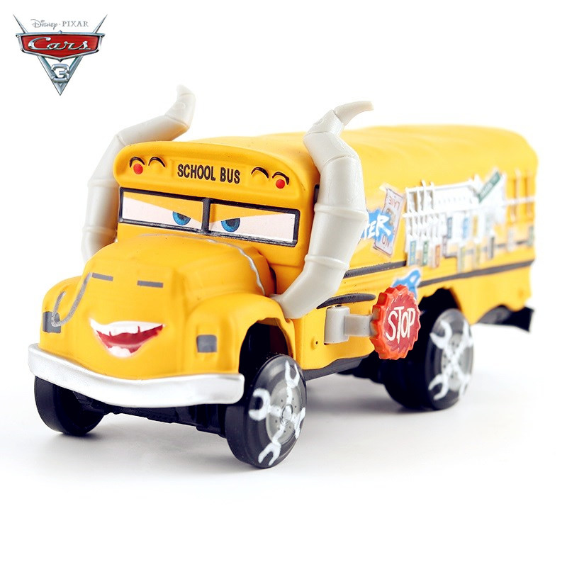Disney Pixar Cars 3 Miss Fritter Uncle Bulldozer Frank Harvester 1:55 Diecast Metal Toys Model Car Toy For Children's Gift