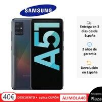 Телефон Samsung Galaxy A51, черный, белый, синий, 128 Гб ПЗУ, 4 Гб оперативной памяти, две sim-карты, экран 6,5 дюйма, задняя камера 48