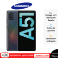 Phone Samsung Galaxy A51, Black White Blue, 128 GB ROM, 4 GB RAM, dual SIM, 6.5 Screen, Back Camera 48