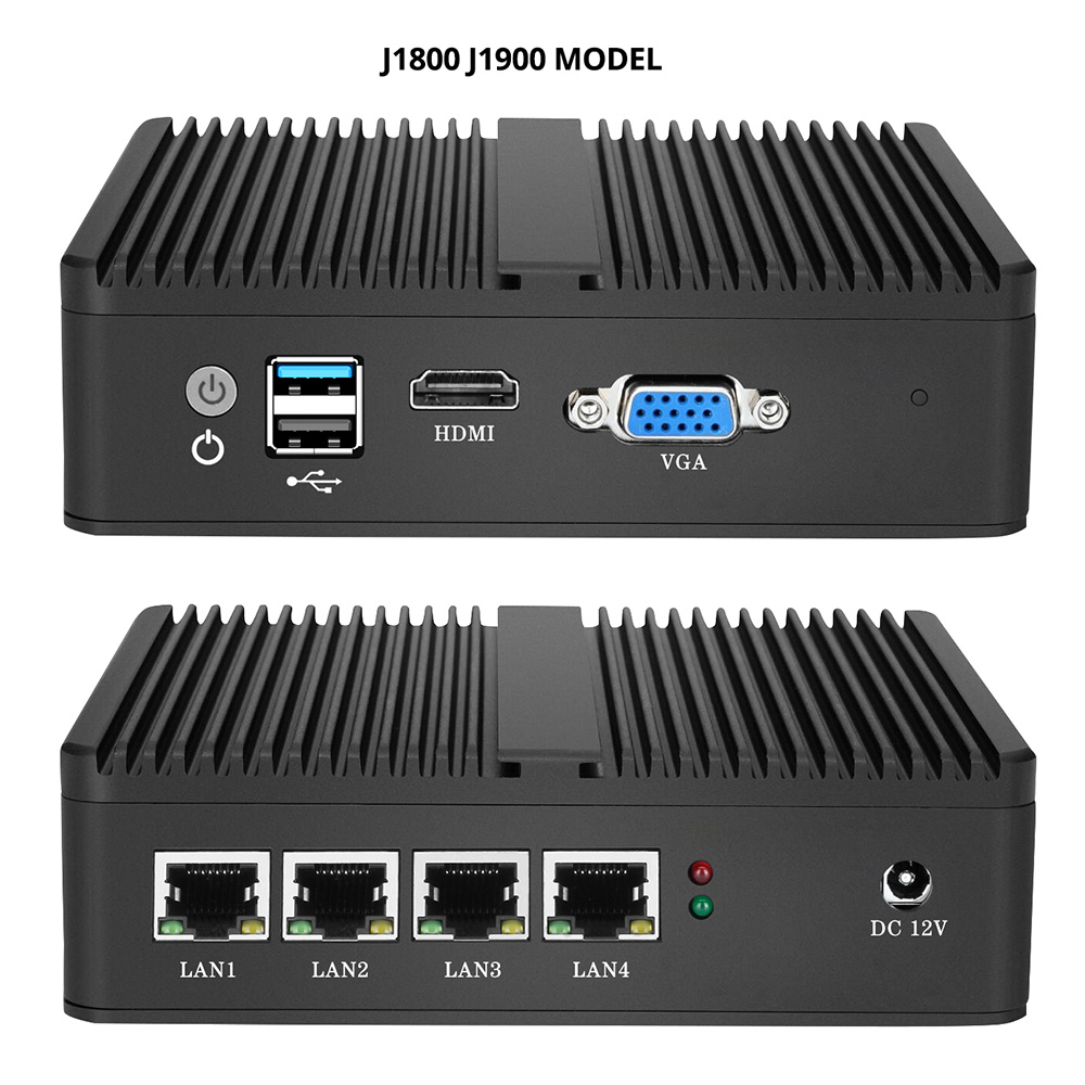 Image 3 - XCY Intel Celeron J1800 J1900 N2806 Firewall Soft Router Mini PC Intel Gigabit Ethernet NIC 4xRJ45 WiFi USB HDMI VGA SIM Pfsense-in Mini PC from Computer & Office