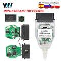 INPA K DCAN для BMW с FTDI FT232RL с переключателем inpa K + DCAN K CAN OBD 2 Автомобильный диагностический инструмент K-line K линейный кабель
