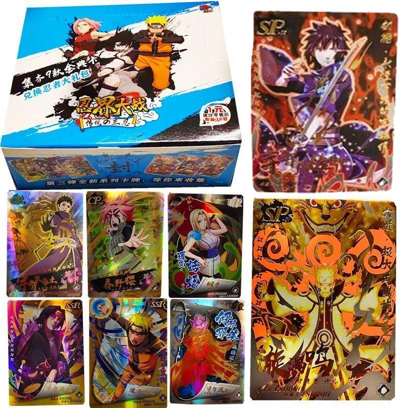 180 pçs japonês shippuden hinata sasuke itachi kakashi gaara brinquedos hobbies colecionáveis jogo coleção anime cartões