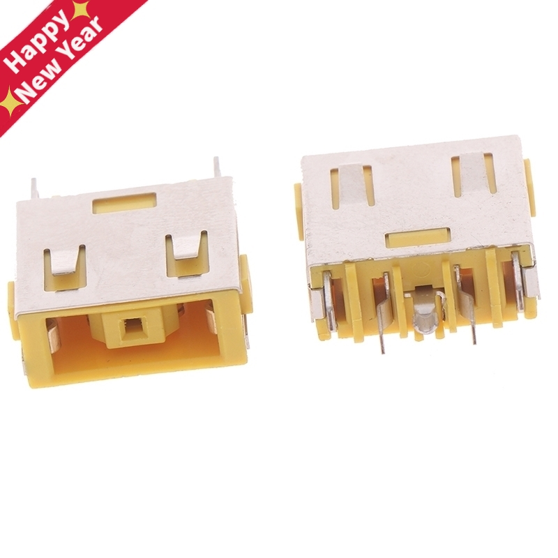 2Pcs Yellow Laptop DC Power Jack Socket Connector For G400 G405S G505 G490 G500 G505 Z501