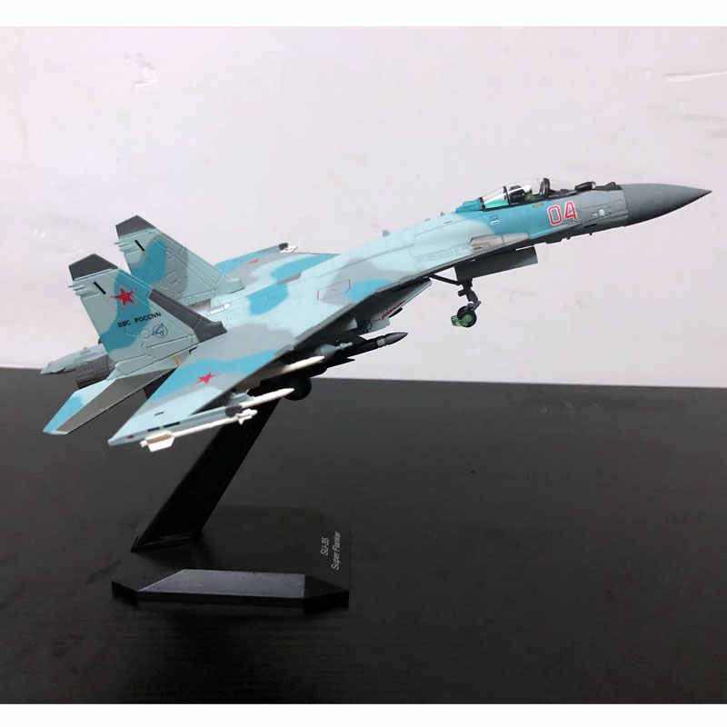 1//100 Russian Air Force SU-35 SU35 Alloy Fighter Aircraft Model Toys Decoration