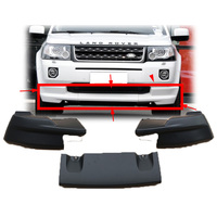 2007 2016 ABS Unpainted Color Front Corner Bumper Skid Lip Protector Guard Covers 3Pcs For Land Rover Freelander 2 Car Styling