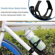 Велосипедный держатель для бутылки черный пластик-стальной горный велосипед Поворот 360 установлен на руль под сиденьем вниз труба вилка Передняя Труба