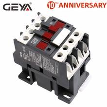 цена на GEYA CJX2-0910 1210 1810  Din Rail Magnetic Contactor 220V or 380VAC Contactor 3Pole 9A 12A 18A 1NO LC1D-09 Contactor