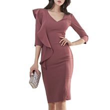 Korean Fashion Women Dress Elegant Women Bodycon D