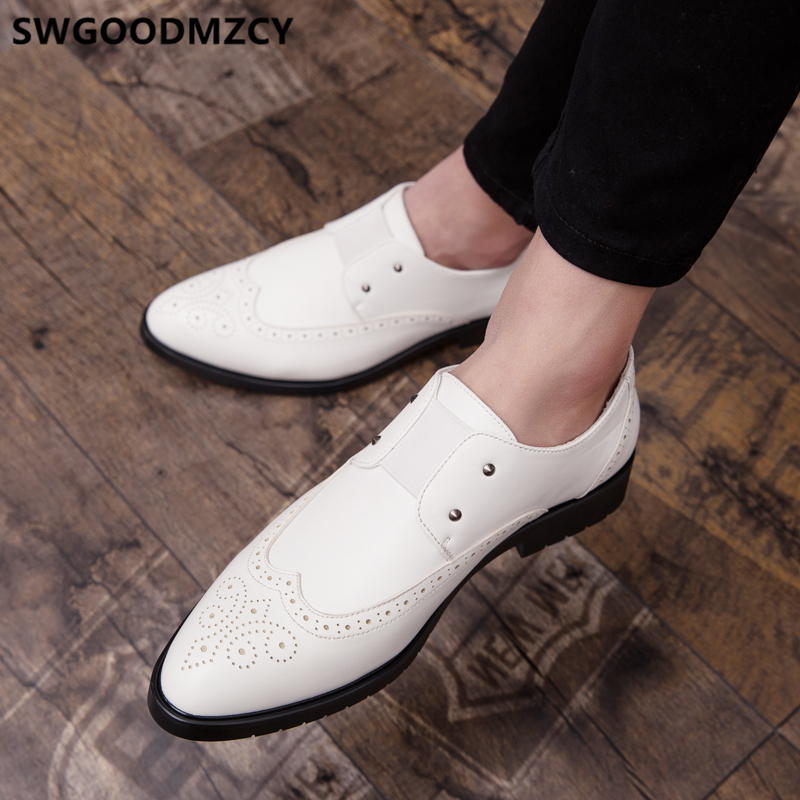 Formal Shoes For Men Loafers Brogue Shoes Men Classic Wedding Dress 2020 Luxury Brand Designer Shoes Men Party Coiffeur Ayakkabi