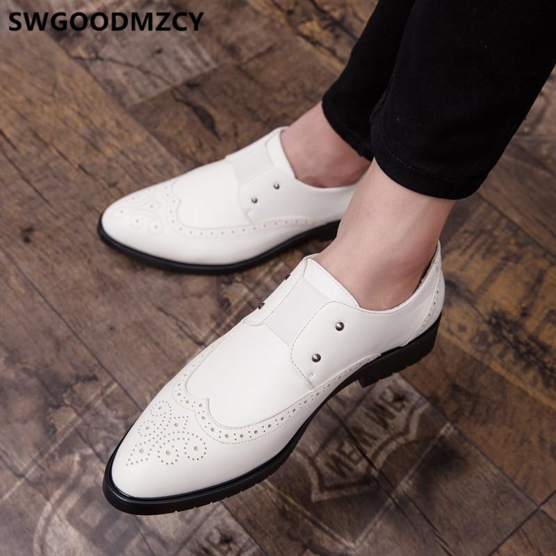 Formal Shoes For Men Loafers Brogue Shoes Men Classic Wedding Dress 2020 Luxury Brand Designer Shoes Men Party Coiffeur Ayakkabi
