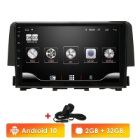 Android 10 Car Radio 2 Din GPS Navi for Honda CIVIC 2016 2017 2018 1Gb+16Gb WIFI 4G BT DVR Mirror Link OBD2