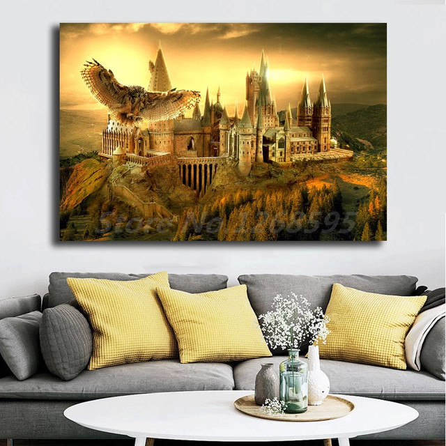 Harries hogwartses Owl School Poster Potteres Canvas Painting Wall Art Print Picture For Living Room Decoration Home Decor
