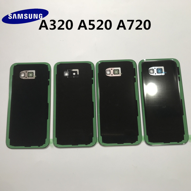 Original Back Glass For SAMSUNG Galaxy A3/A5/A7 2017 A320 A520 A720 Back Battery Glass Cover Rear Door Housing Case Replacement 4