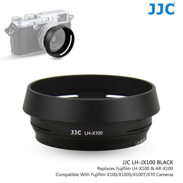 JJC LH X100 AR X100 מתכת עדשת הוד שמש צל עם 49mm מסנן מתאם טבעת עבור פוג י Fujifilm X100V X100F X100T x100S X100 X70