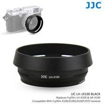 JJC LH X100 AR X100 Metal Lens Hood güneş gölge ile 49mm filtre adaptörü halka Fuji Fujifilm X100V X100F X100T x100S X100 X70