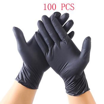 100 sztuk jednorazowe rękawice olejoodporne nitrylowe rękawice gumowe guantes xl na domowe jedzenie laboratorium czyszczenie użyj bezpłatne Shiping tanie i dobre opinie Dla dorosłych Unisex Nitrile Gloves Stałe Opera Rękawiczki Moda Disposable Gloves