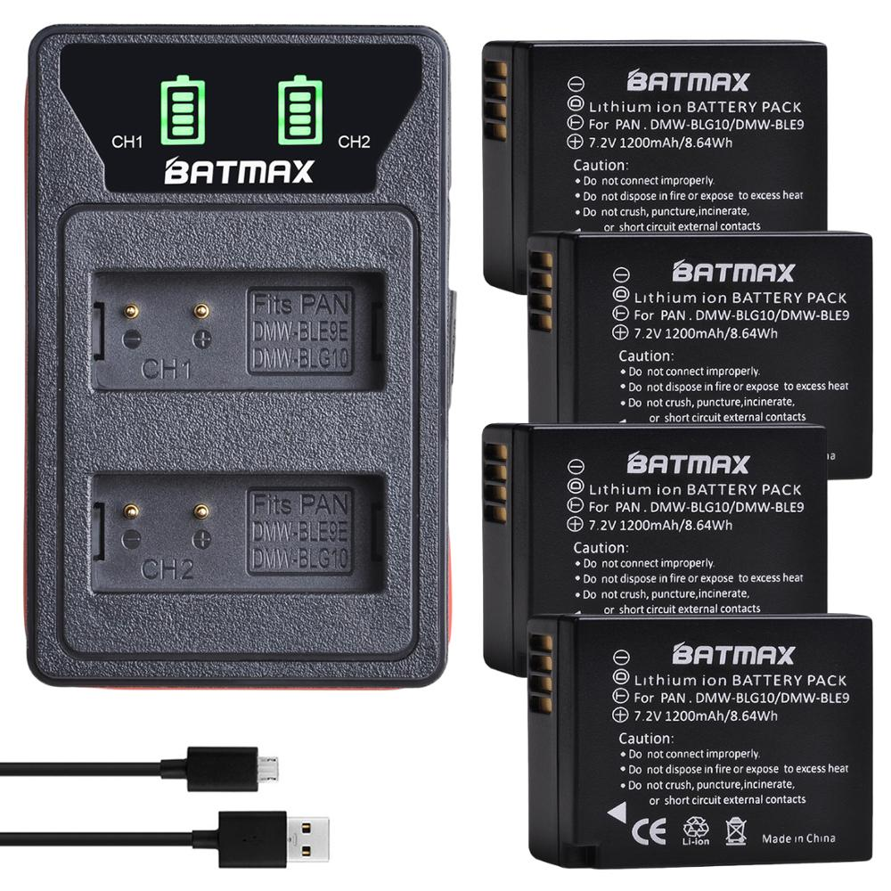 2Pcs DMW-BLG10 DMW BLG10 BLG10e BLE9 Battery + LED Built-in USB Dual Charger for <font><b>Panasonic</b></font> <font><b>LUMIX</b></font> GF5 GF6 GX7 <font><b>LX100</b></font> GX80 GX85 image
