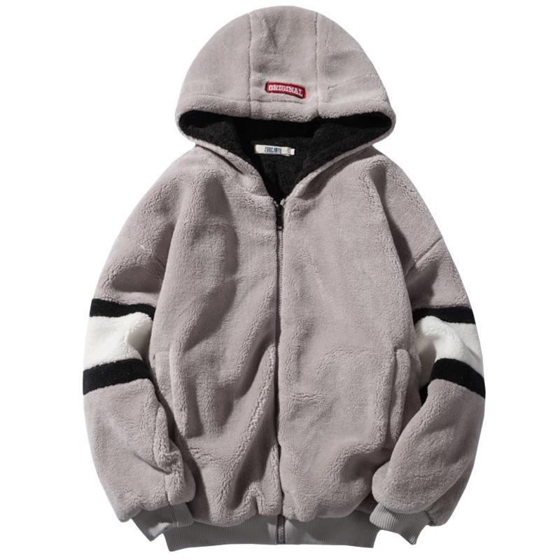 2020 Lamb Wool Cotton Jacket Men's Coat Korean Fashion Handsome Plus Velvet Padded Loose Bf Student Casual Cotton Jacket Men
