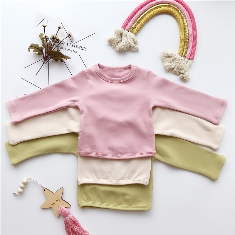 Kids T-Shirt Basic Pretty Toddler Love-Sleeve Autumn Baby-Boy-Girl Korean-Quality Winter
