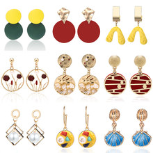 Original Design Creative Shell Earrings For Women 2019 New Vintage Retro korean Fashion Pearl Earings Handmade Women Accessories(China)
