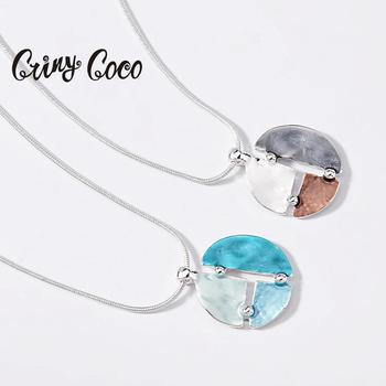 Cring Coco 2020 collares con colgantes geométricos de nuevo diseño, collar gargantilla con cadenas de serpiente a la moda para mujer, regalos de San Valentín para chica