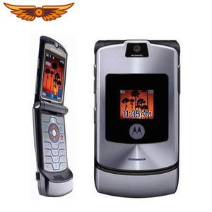 Motorola V3i 100%Original Razr Refurbished Mobile-Phone Flip Bluetooth Unlocked MP3 Quad-Band