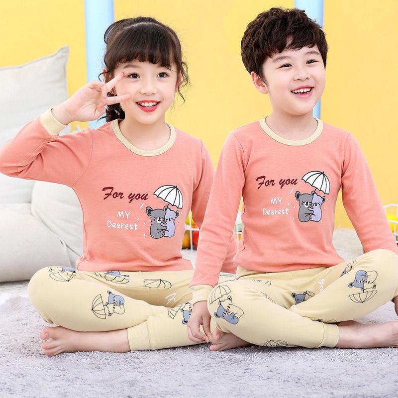 2020 Winter Children Christmas Pajamas Boys Cotton Nightwear Baby Girl Clothes Suit Cartoon Pyjamas Kids Pijama Infantil Teenage 6
