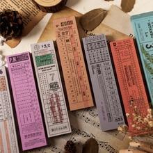 12pcs/lot 100 Sheets/pc Antique Long Ticket Series Retro Memo Pad DIY Bullet Journal Sketchbook Scrapbook