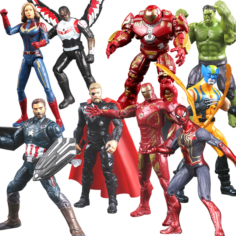 Marvel Avengers Thor Iron Man Action Figure Toys Thanos Captain America Thor Spiderman Avengers Endgame Model Toys For Children