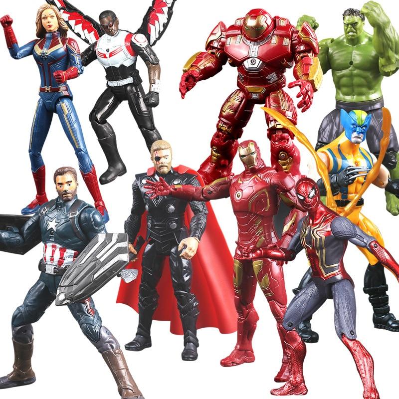 Marvel Avengers Thor Iron Man Action Figure Toys Thanos Captain America Thor Spiderman Avengers Endgame Model Toys For Children