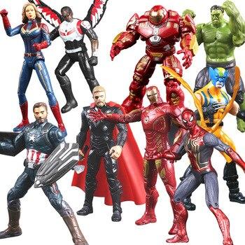 Marvel Avengers Thor Iron Man Action Figure Toys Thanos Captain America Thor Spiderman Avengers Endgame Model Toys for Children new avengers superhero iron man thor spider man captain america batman hulk wolverine with led light action figure s252