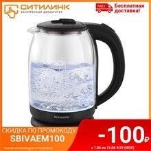 Чайник электрический SUNWIND SUN-K-002, 1500Вт, серебристый и черный