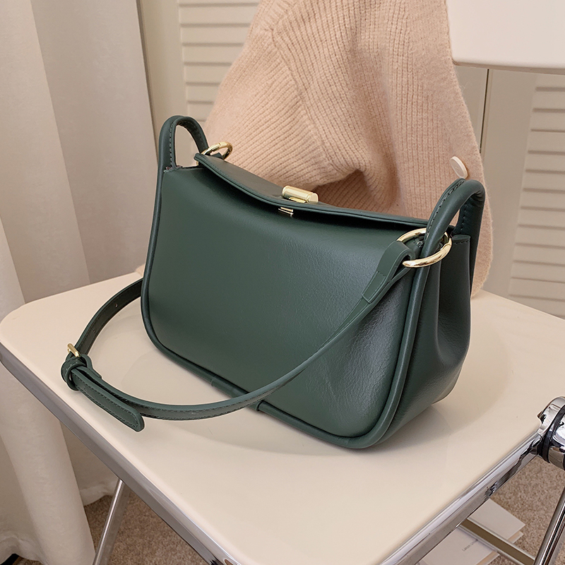 с доставкой Small Solid Color PU Leather Shoulder Bags For Women 2021 winter Simple Handbags and Purses Female Tote Bags