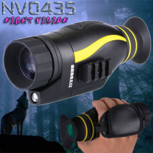 NV0435 HD Digital Night Vision can take pictures, videos, hunt and patrol at night with a single infrared telescope
