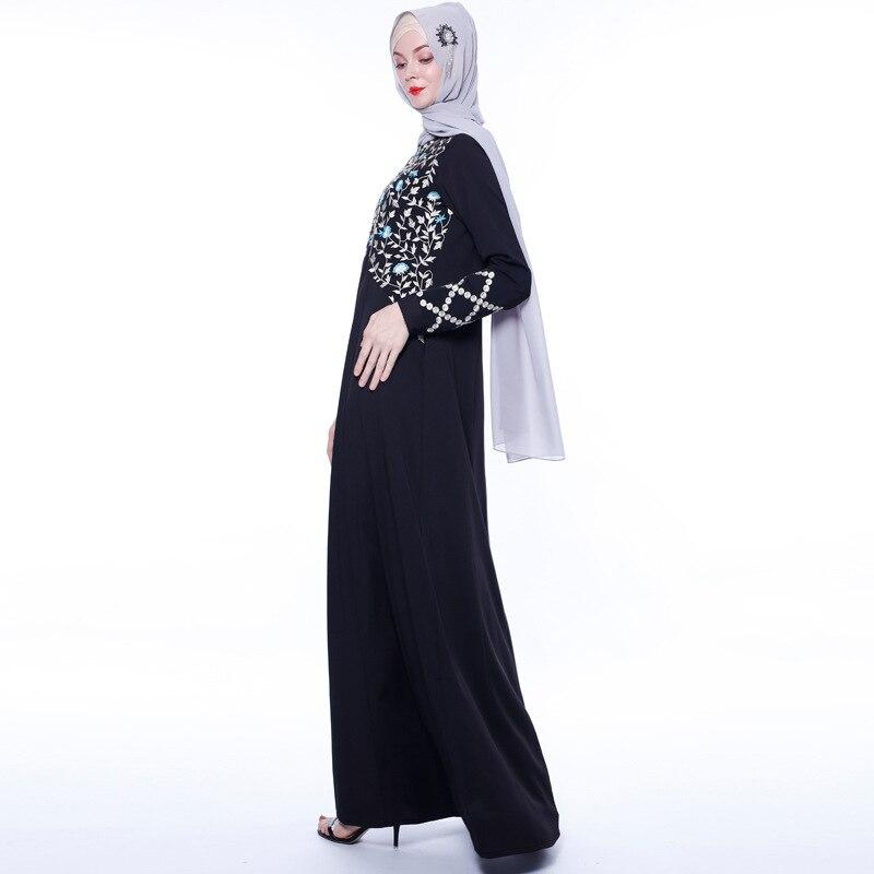 Abayas for Women Islam Caftan Marocain Dresses Vestidos European Clothing Kaftan Dubai Abaya Turkey Muslim Femme Musulmane 6