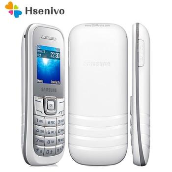 E1200 Original unlocked samsung E1200 E1200M cellphone 1.5 inch one sim card Loudspeaker 800 mAh Battery Free shipping