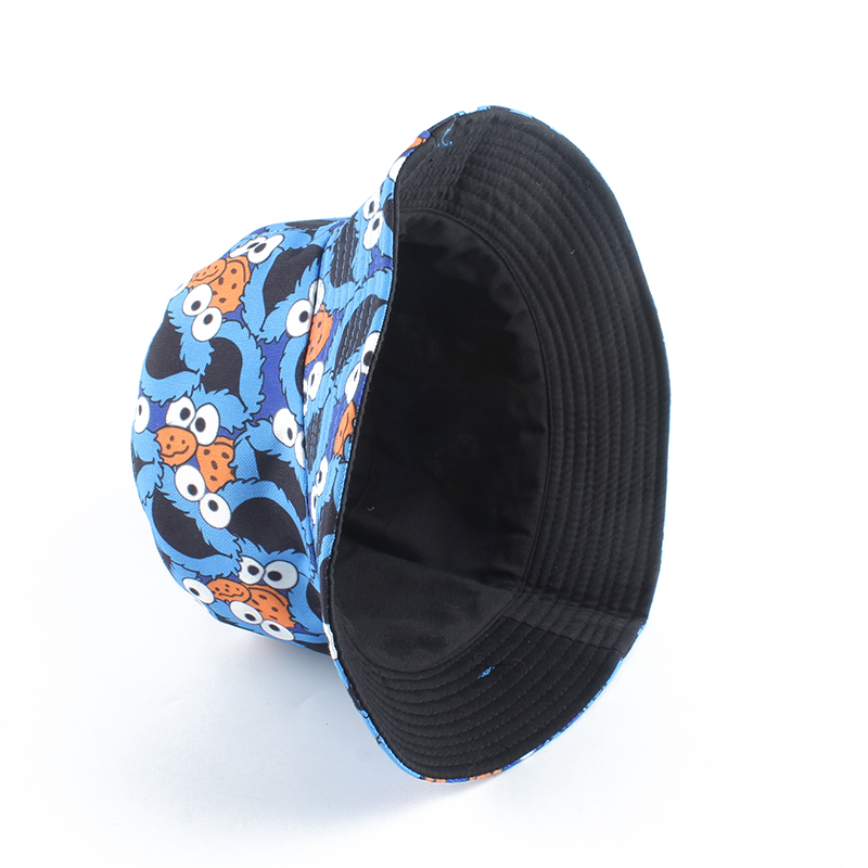 H25fb85fc866c4c41a73633fdb32e167eJ - Summer Fisherman Hat Reversible Cartoon Bucket Hats For Women Men Street Hip Hop Bucket Cap Vintage Printed Fishing Hat