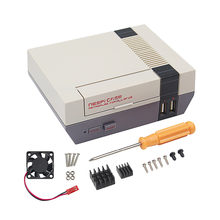 Vonets especializada casca caso habitação com refrigeração e desmontar ferramentas para raspberry pi 3 3b 2b b + nespi game console gadgets