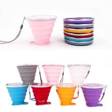 270 мл дорожная чашка из нержавеющей стали, силиконовые выдвижные складные чашки, телескопические складные кофейные чашки для спорта на открытом воздухе, чашка для воды