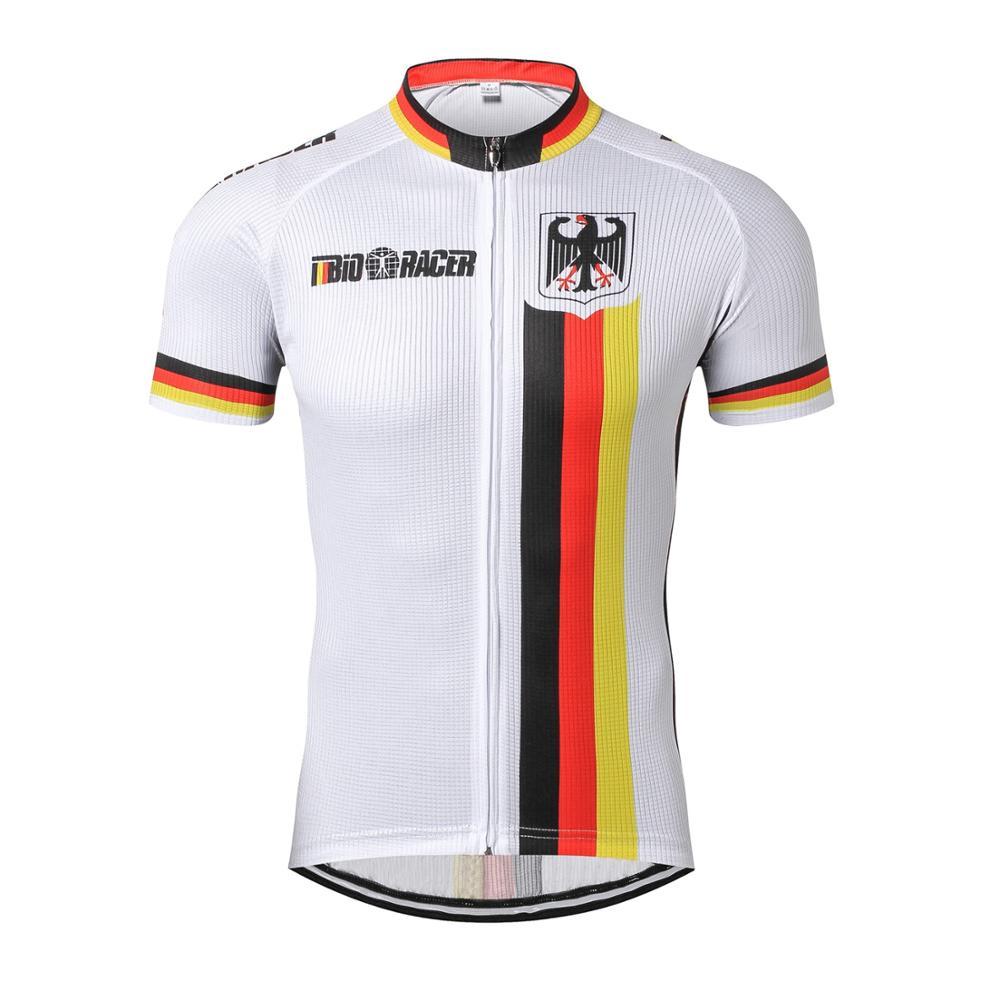 JPOJPO Cycling Jersey Men Pro Bike Team Jersey Top Summer Short Sleeve Quick Dry Bike MTB Mountain German Bicycle Clothing Shirt