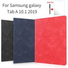 Case for Samsung galaxy Tab A 10.1 2019 SM-T510 T515 Tablet fashion color cover PU leather case luxury imitate Genuine Leather