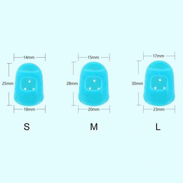 Фото 5 размеров гитарные защитные накладки на палец силиконовые для цена