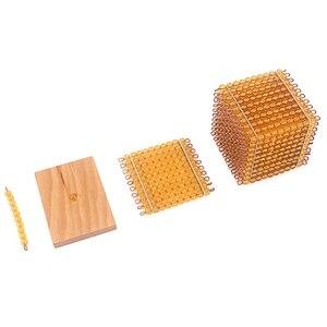 Image 4 - Montessori Matematik Eğitici Oyuncaklar Altın Boncuk Malzeme Sembolleri Tepsiler Çocuk 5 Yıl Öğretim Oyuncaklar Öğrenciler Öğrenme Aritmetik