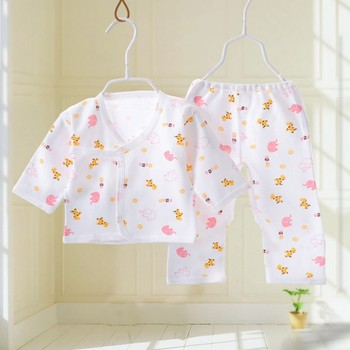 cotton pink elephant pajamas