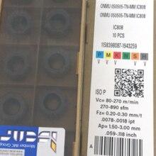 Inserção original do carboneto de 10 pces onmu 050505-tn-mm ic808
