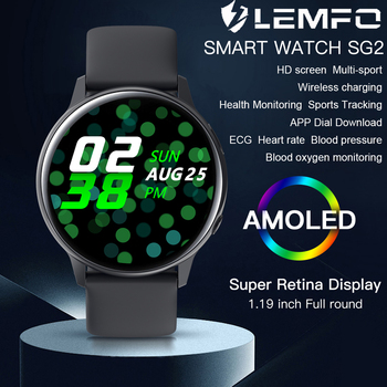 LEMFO Smart Watch 390*390 HD Screen Wireless Power Heart Rate Monitor Blood Pressure IP68 Waterproof SmartWatch for IOS Android 1