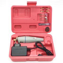 Mini wiertarka elektryczna 15 sztuk akcesoria do szlifowania + adapter wielofunkcyjny grawerowanie maszyny elektryczne elektronarzędzie zestaw zestaw ue wtyczka w Wiertarki elektryczne od Narzędzia na