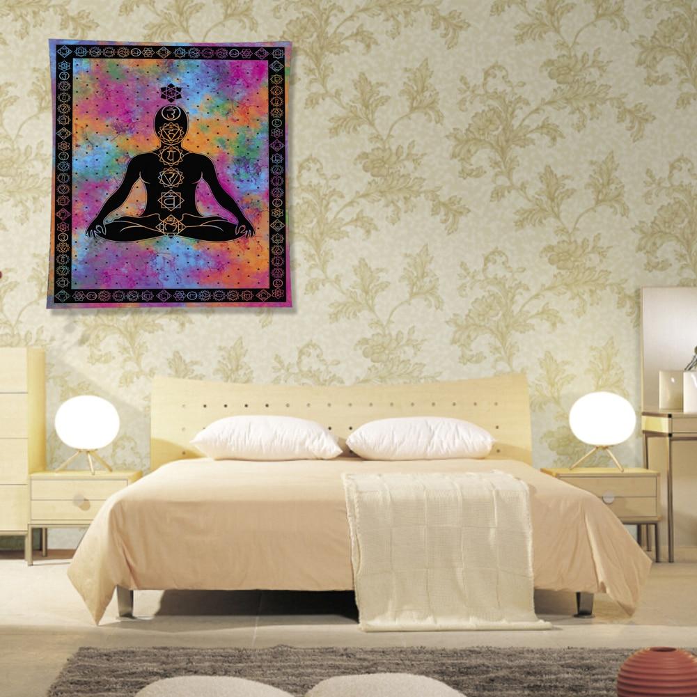 Hanging Decor Tablecloth Carpet Seven Chakra Buddha Bedroom Yoga Meditation Multipurpose Picnic Studio Room Print Wall Tapestry