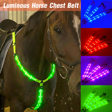 Horse-Riding-Belt Equestrian-Equipment Equitation-Lighting Breastplate LED Night-Visible