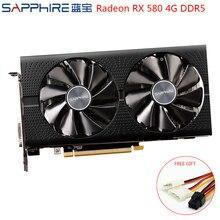 SAPPHIRE AMD Grafikkarte Radeon RX 580 4GB 256bit Gaming Grafiken Karten Verwendet RX580 Gaming PC Grafikkarten GPU RX580 4GB GDDR5